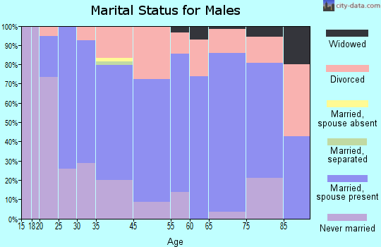 Lewistown marital status for males