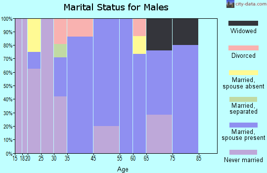 Elkmont marital status for males