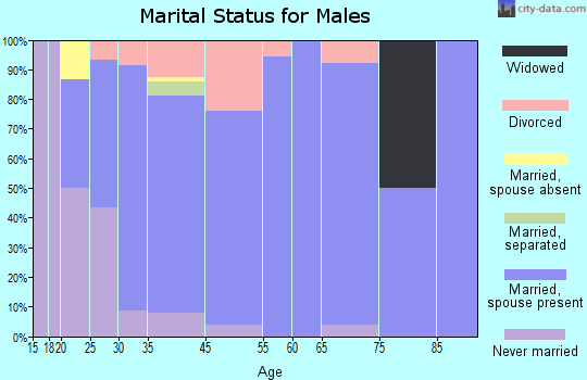 Kibler marital status for males