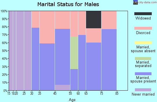 Indian Springs marital status for males