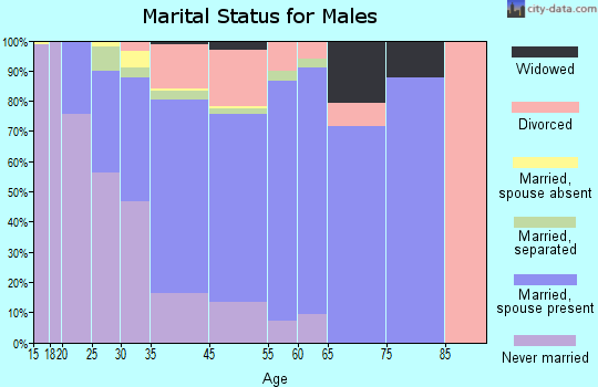 Browns Mills marital status for males