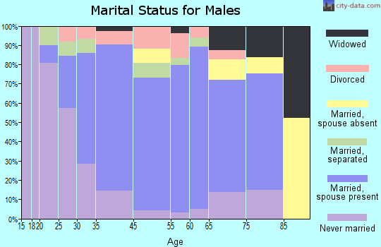 Cape May Court House marital status for males