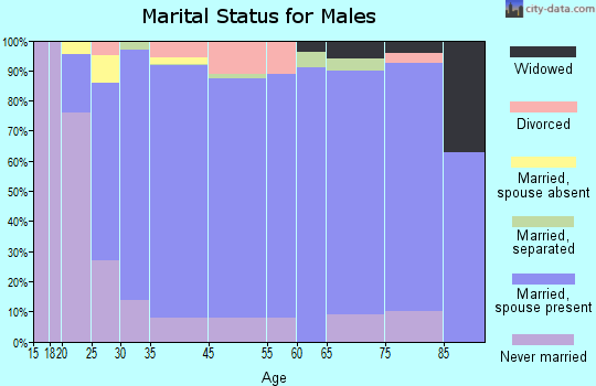 Ocean Acres marital status for males