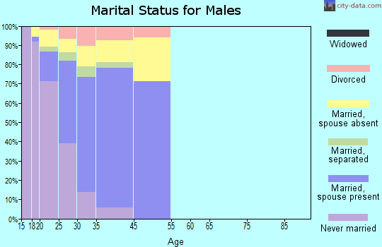 Fort Drum marital status for males