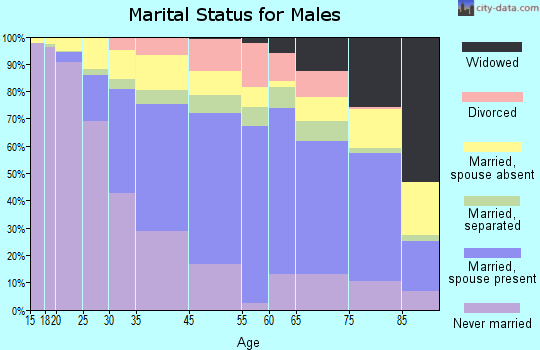 Hempstead marital status for males