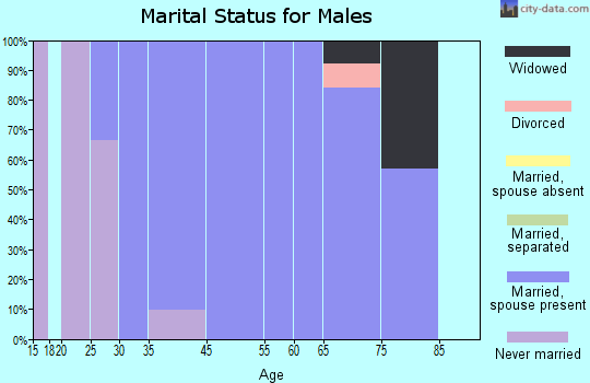 Hewlett Neck marital status for males