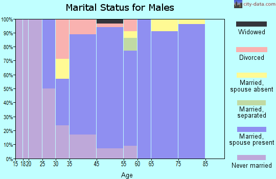 Mill Neck marital status for males
