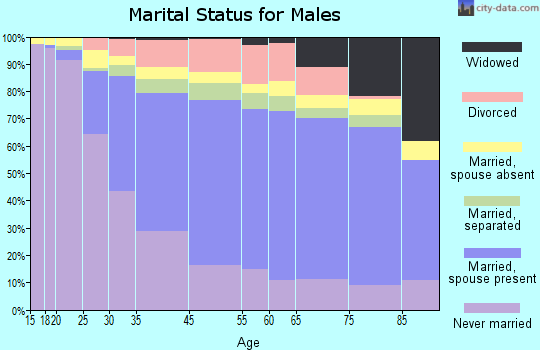 Mount Vernon marital status for males