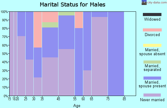 Perrysburg marital status for males