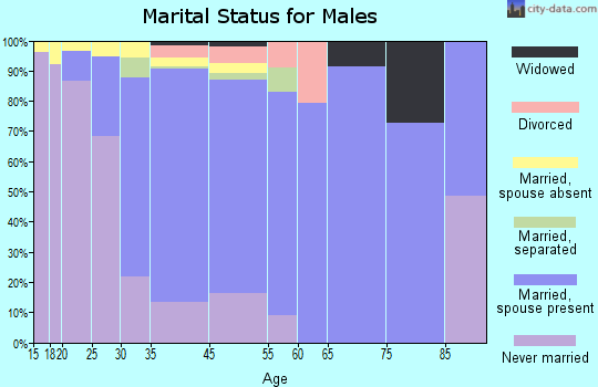 Pleasantville marital status for males
