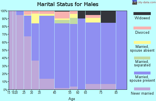 Roslyn Heights marital status for males