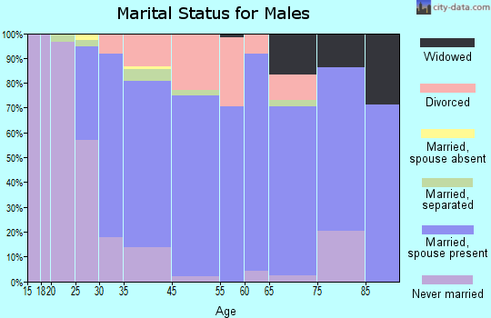 Rouses Point marital status for males