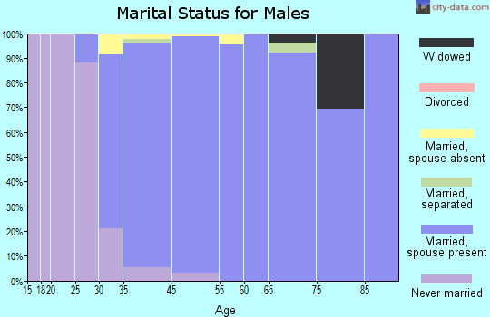 Searingtown marital status for males