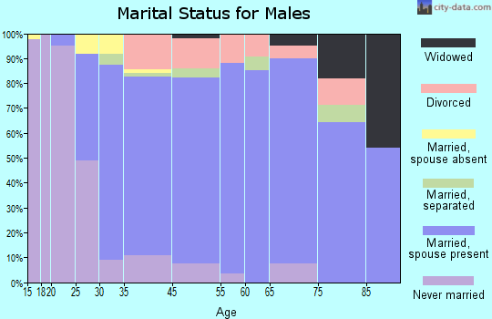 Wading River marital status for males
