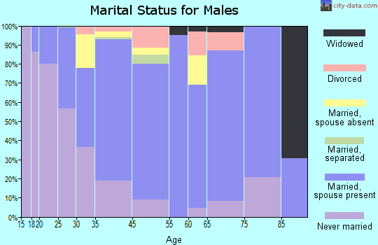 West Haverstraw marital status for males