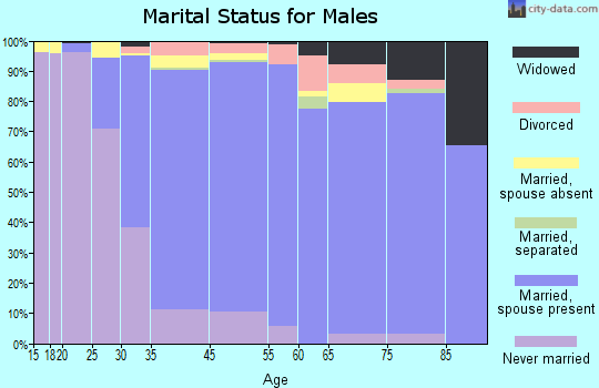 West Hempstead marital status for males