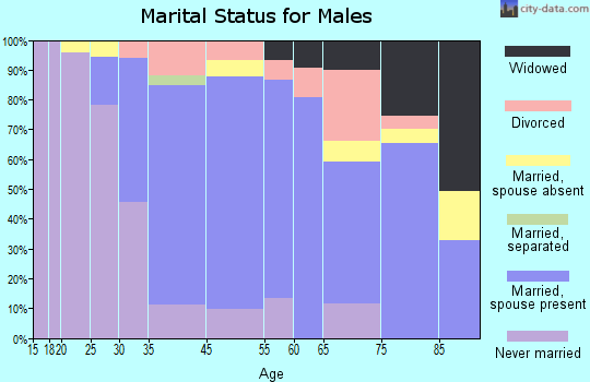 Williamsville marital status for males