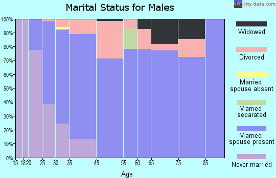 Murraysville marital status for males