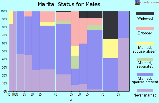 Walnut Cove marital status for males