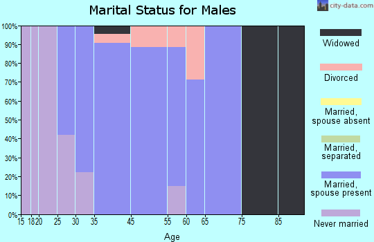 Choctaw Lake marital status for males