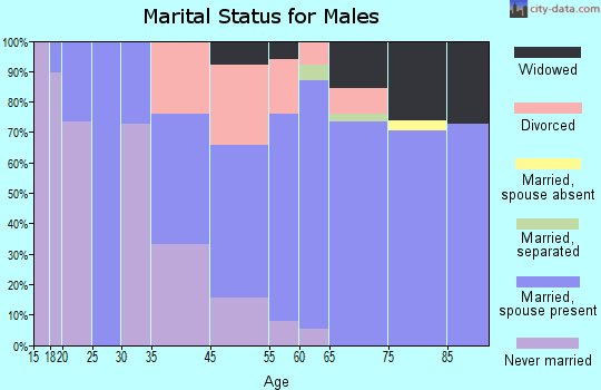 Big River marital status for males