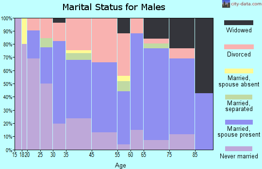 Geneva-on-the-Lake marital status for males