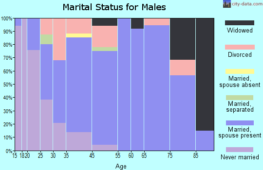Newcomerstown marital status for males
