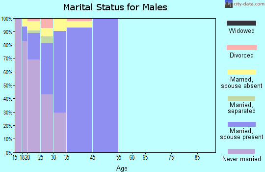 Camp Pendleton North marital status for males