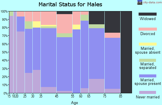 Wellston marital status for males