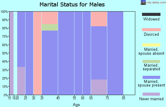 Breckenridge marital status for males