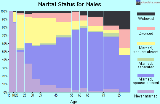 Chino marital status for males