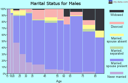 Woodward marital status for males