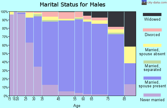 Diamond Bar marital status for males