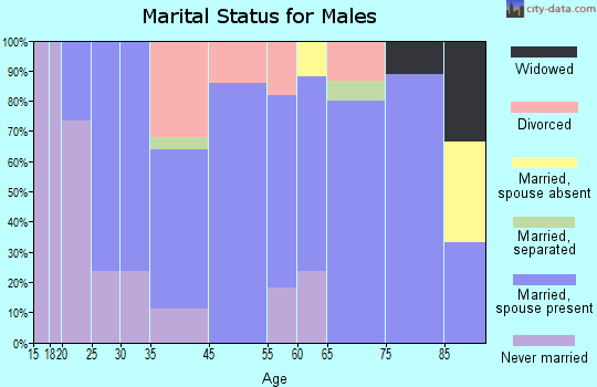 Wallowa marital status for males