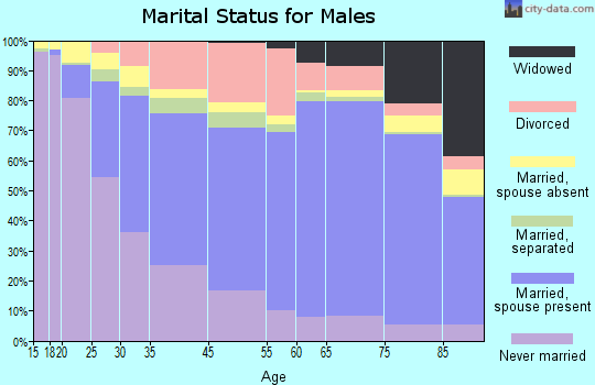 Allentown marital status for males