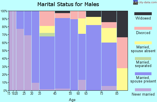 Dunnstown marital status for males