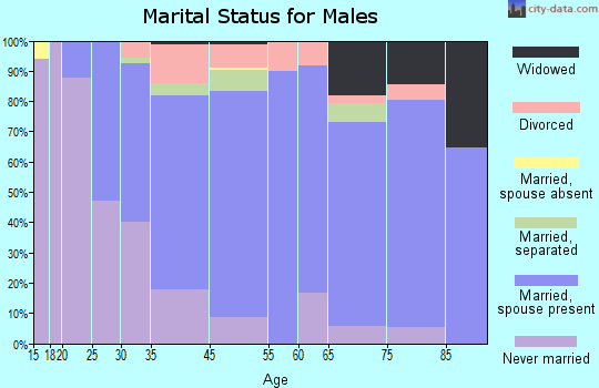 Fairless Hills marital status for males
