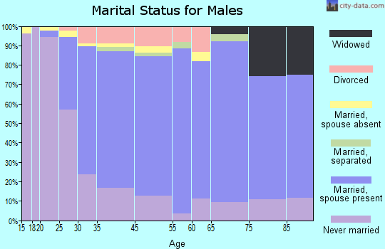 Glenside marital status for males