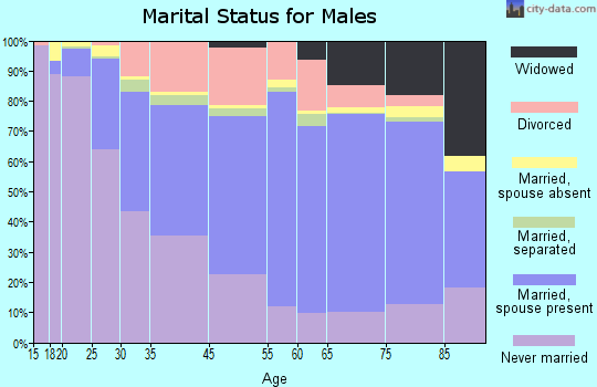 Johnstown marital status for males