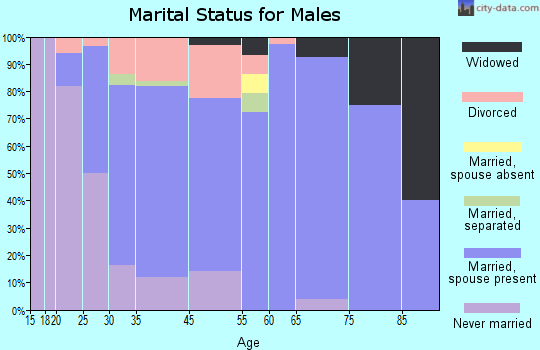 Leesport marital status for males