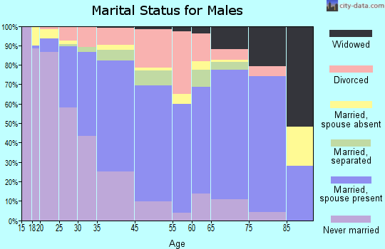 Meadville marital status for males