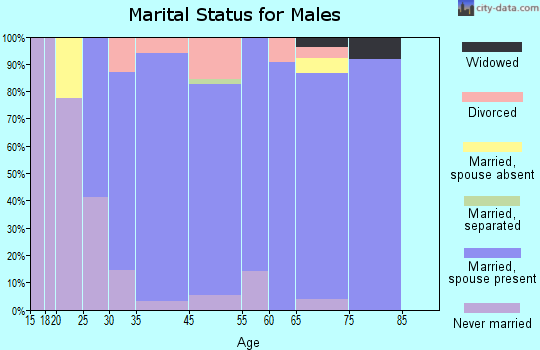 Treasure Lake marital status for males