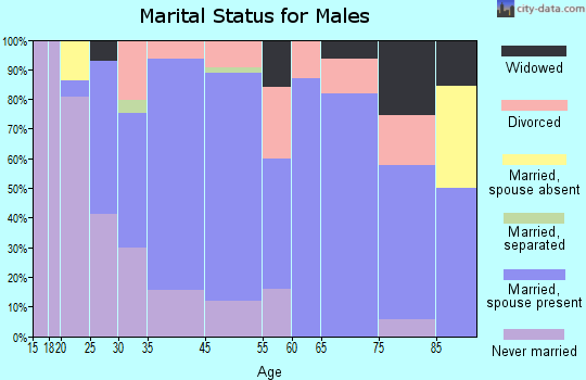 Wind Gap marital status for males
