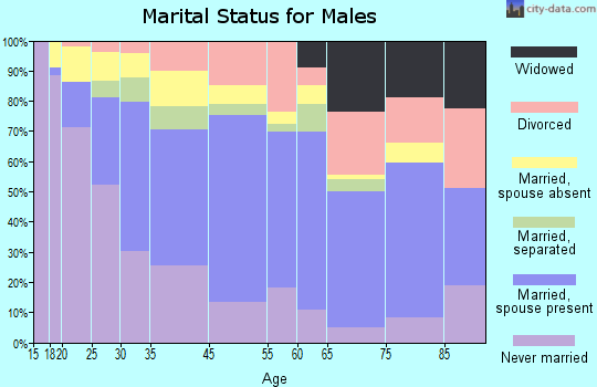 Central Falls marital status for males