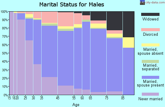 North Providence marital status for males