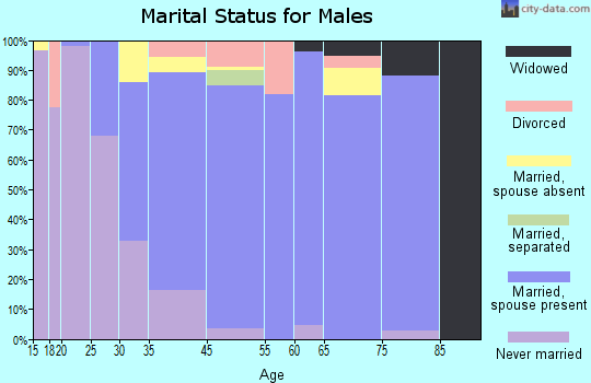 Highlands-Baywood Park marital status for males