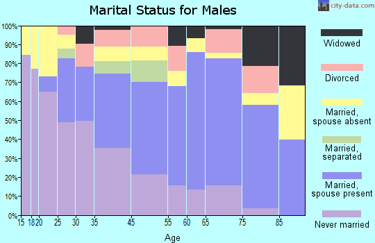 Clinton marital status for males