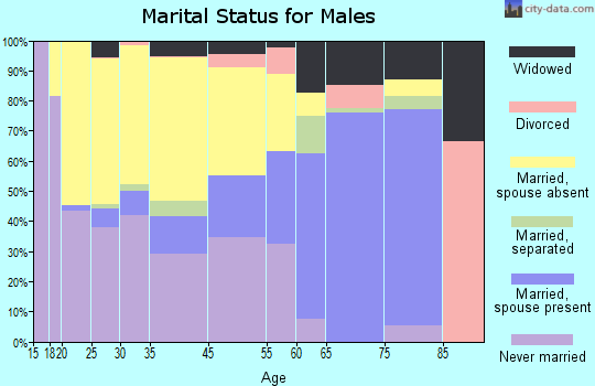 Edgefield marital status for males
