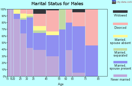 Kings Beach marital status for males