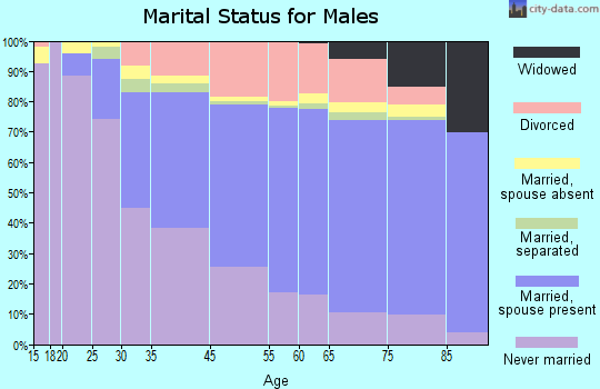 Laguna Beach marital status for males